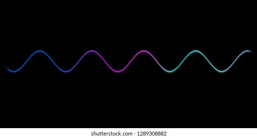 Speaking sound wave lines illustration.