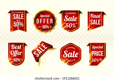 Special discount offer tags set, 3D illustration