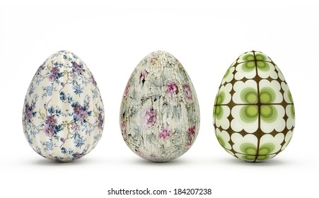 Special Easter Eggs - Vintage Look
