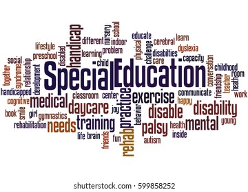 Special Education, word cloud concept on white background.