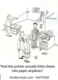 special printer prints paper airplanes