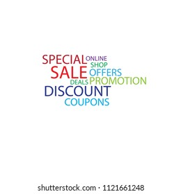 Special Sale  discount marketing word cloud