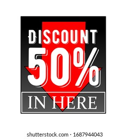 Special text 50 percent discount
