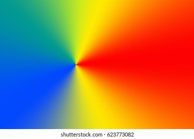 Spectrum Color Wheel Radial Gradient Background Stock Illustration
