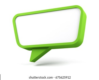 Speech bubble. 3d rendered image