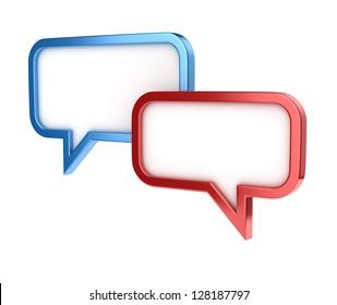 speech bubbles - conversation chat texting icon