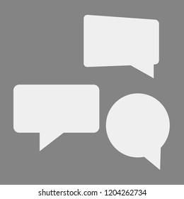 Speech bubbles isolated set. Cloud bubble speech for communication