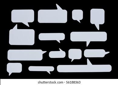 Speech Bubbles on Black