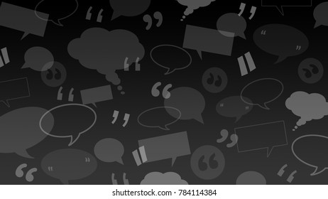 Speech and thought bubbles with quote marks suitable as a background illustration for client / customers testimonials or comments or quotes
