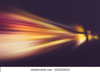 SPEED LIGHT BACKGROUND, BLURRY MOTION LINES AT NIGHT, ACCELERATION, VELOCITY