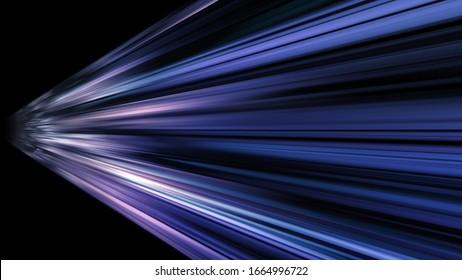 Speed Light Data Network Stream Technology abstract 3D illustration background
