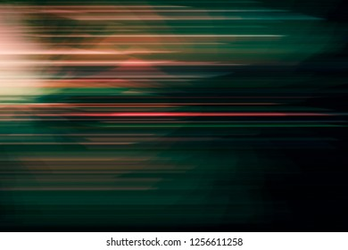 SPEED LIGHT LINES, BLURRED MOTION AT NIGHT, TRANSPORATION BACKGROUND