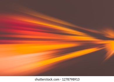 SPEED LIGHT MOTION ON THE NIGHT HIGHWAY ROAD, ACCELERATION