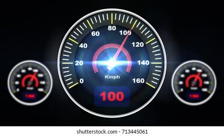 speed meter on black background