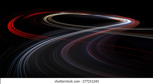 Speed motion on the black background