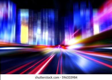 speed motion on night city