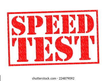 SPEED TEST red Rubber Stamp over a white background.