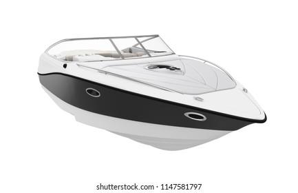 Speedboat Isolated. 3D rendering