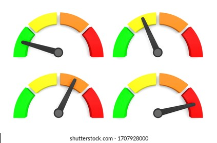speedometer indicator performance measurement 3D illustration