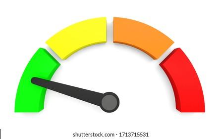 speedometer indicator performance measurement 3D illustration