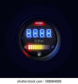 Speedometer Motorcycle Tachometer Fuel LED-Digital Display
