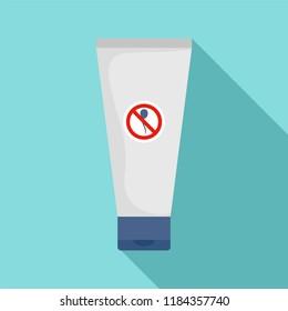 Spermicide tube icon. Flat illustration of spermicide tube icon for web design