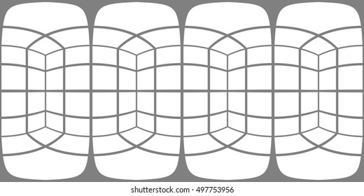 "Spherical panorama of inside cube faces in equirectangular projection. Resample it to identical pixels of your panorama, place it over own layer and set the blending mode to ""multiply"""
