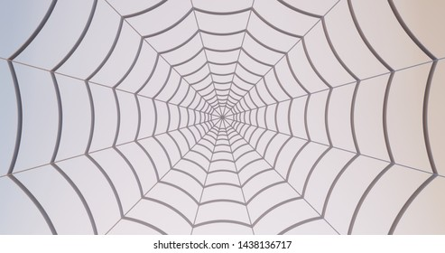 Spider-man Far From Home spider web 3d render wallpaper background with soft lights