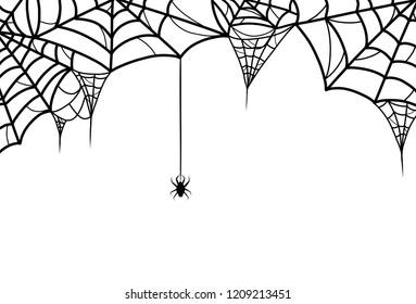 Spiderweb and spider - Halloween theme