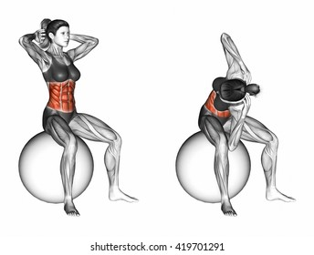 Spinal Stretch. 3D illustration