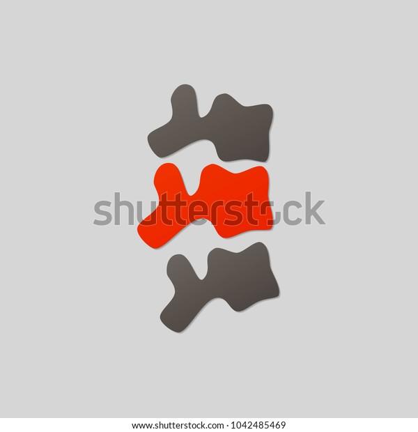 Spine Diagnostics Symbol Design. Spine Pain Illustration.