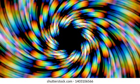Spinning colorful prismatic lights background