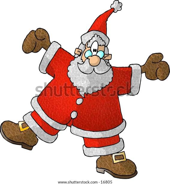 Spinning Santa Claus