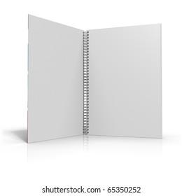Spiral binder with white background