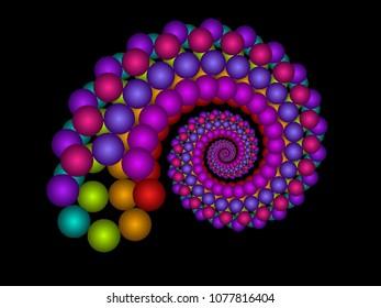 spiral bubble fractal