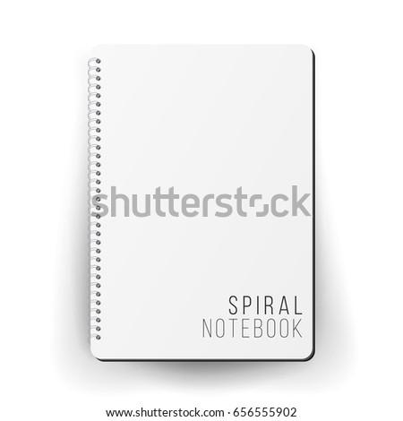 Spiral Empty Notepad Blank Mockup Template Stock Illustration