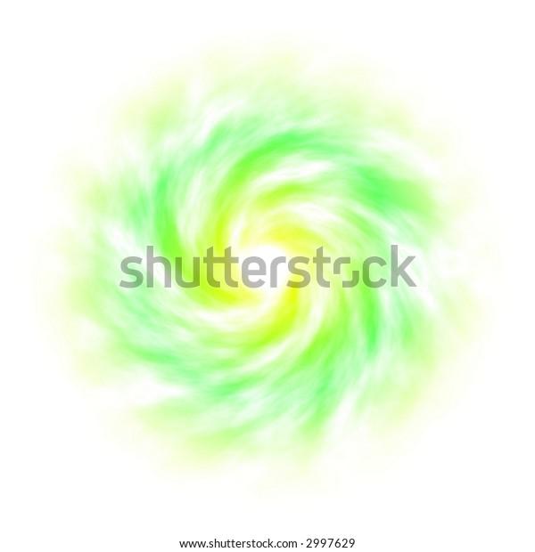 Spiral Galaxy on white