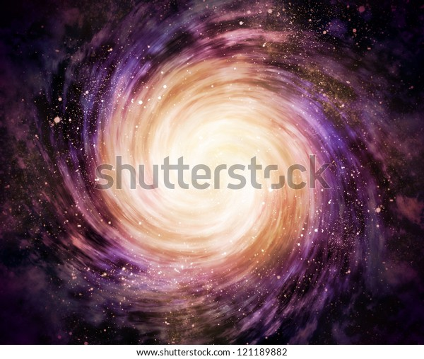 spiral galaxy in space with stars