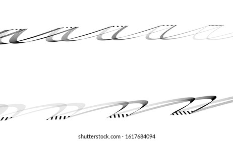 spiral lines pattern backdrop. striped graphic design. digital geometric - minimal style decoration. black abstract silhouettes on white background.