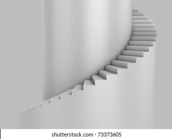 spiral stairway as background 3d illustration