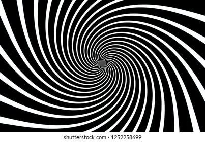Spiral Striped Abstract Tunnel Background.Design style.illustration