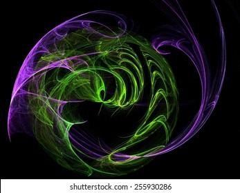 Spiraling tornado abstract fractal background