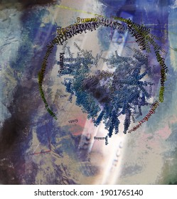 Composition abstraite spirituelle. Rendu 3D