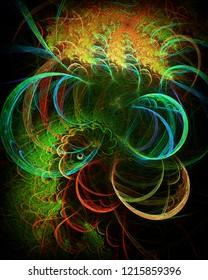 Spiritual Eagle, abstract illustration
