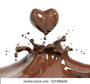 Schokolade einzeln auf 3D-Ebene