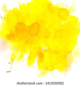 splash yellow watercolor background creative illustration