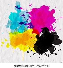 splashes of color CMYK
