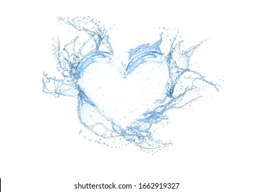 Splashes splash from abstract heart