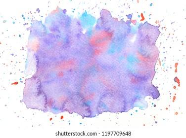 splashing purple watercolor.shades space image