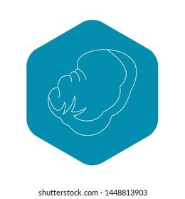 Spleen icon. Outline illustration of spleen icon for web